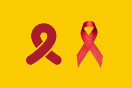 Imaginact logo and awareness ribbon.